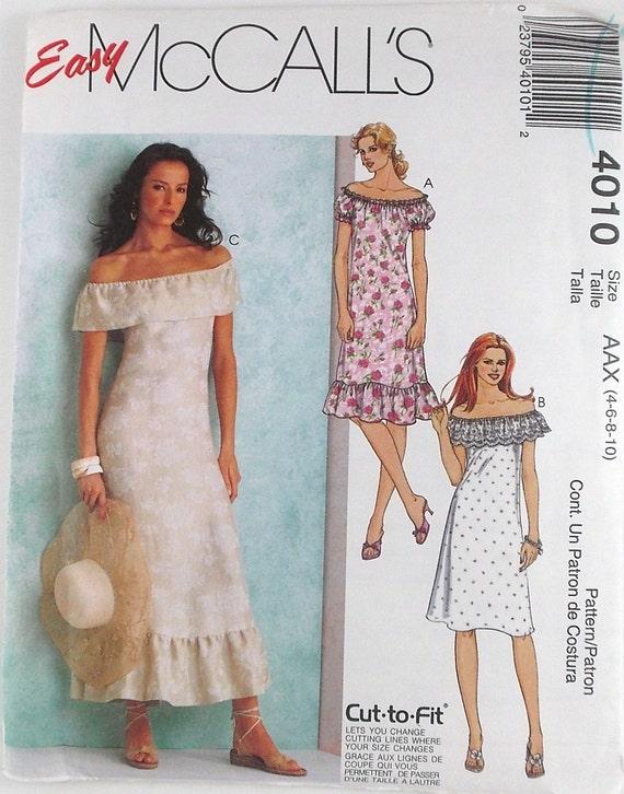 Misses Petite Dress McCalls Pattern 4010 Beach Wedding Gowns Pattern ...