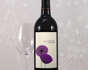 24 Romantic Elegance Personalized Wedding Wine Bottle Labels
