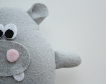 Henri Hippo, Lambwool Plush toy, Soft Toy, Hippopotamus, Stuffed Animal, handmade, Plushie, Softie, Gift Idea, Nursery Decor, Gift for Kids