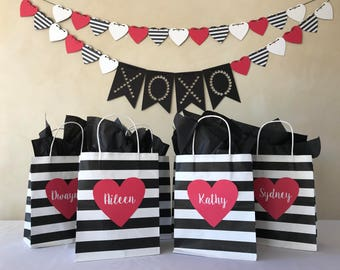 Valentine's Day Hearts Party in a Box | Banner | Gift Bags | Hanging Hearts