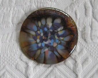 glass brooch  . Art Glass Brooch . Hand Made Glass Brooch