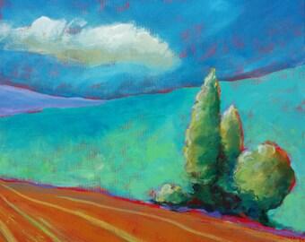 Valley Morning 19 original acrylic nature painting