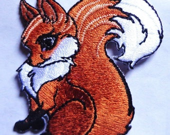 embroidered iron on applique/patch-fox