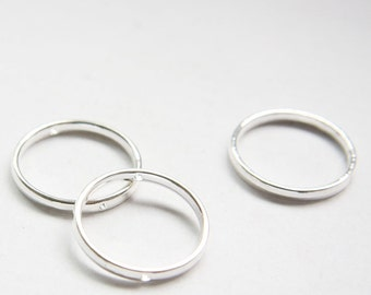 8pcs Oxidized Silver Tone Base Metal Spacers-Round 24mm with inner 20mm (26279Y-H-260A)