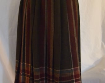 1980s Pleated Skirt by Claude