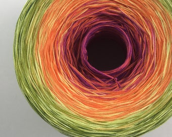 Colour Change Gradient Yarn - fruitilicious - Moca Cotton Yarn - 10 colours - fingering weight - cotton - you pick the size