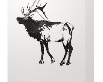 Canadian Elk Card