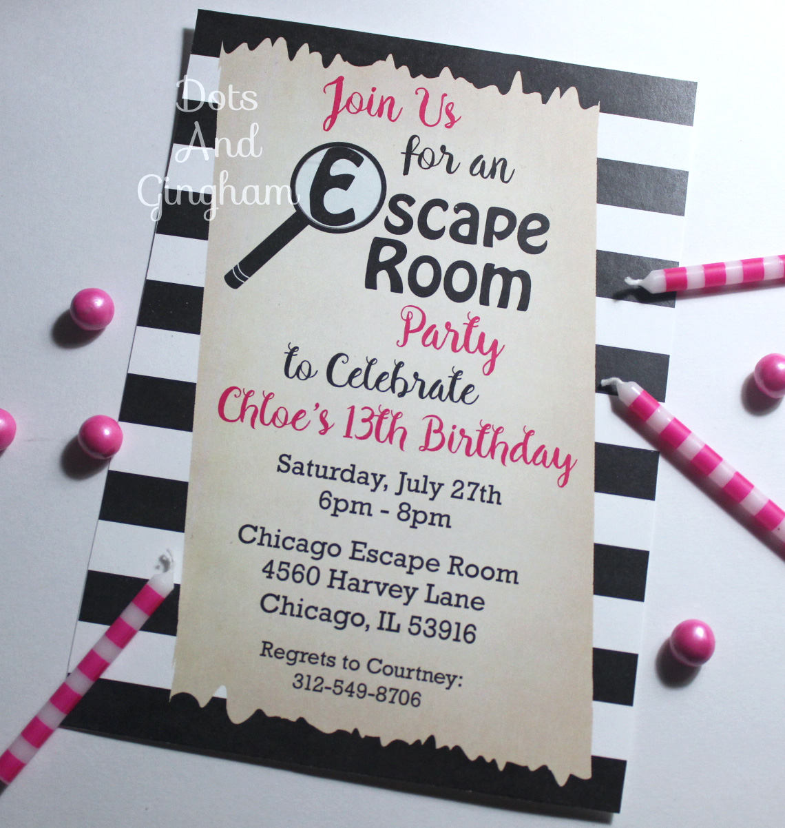 Escape Room Invitation Escape Room Party Scavenger Hunt