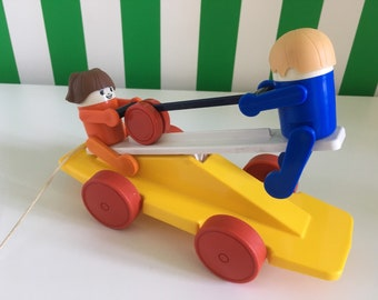 Vintage kiddicraft pull along toy see saw