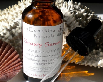 Beauty Serum Natural Moisturizer, Conditioner, Make-up Remover - All Skin Types - Oil Cleansing Method - Eco-Friendly Glass Bottle - On Sale