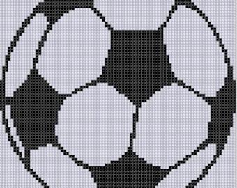 Soccer Ball Cross Stitch Pattern
