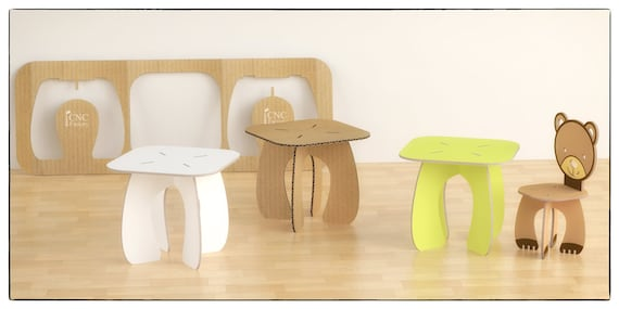 KIDS TABLE Cnc Template Cutting File Wooden Cardboard