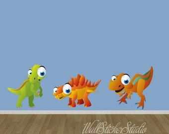 Dinosaurier FABRIC Wall Decals, wiederverwendbare Aufkleber Dinosaurier, Kinder-Wand-Aufkleber