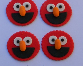 12 edible SESAME STREET ELMO cupcake cake topper decorations baby shower wedding anniversary birthday engagement