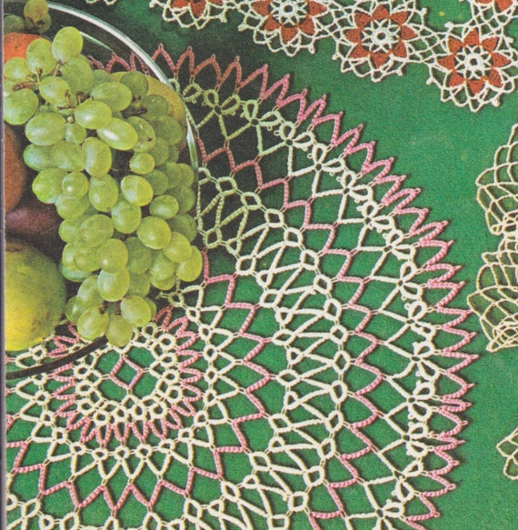 221 Pdf Pretty Doily Tatting Pattern 14 Inches Round Doily With