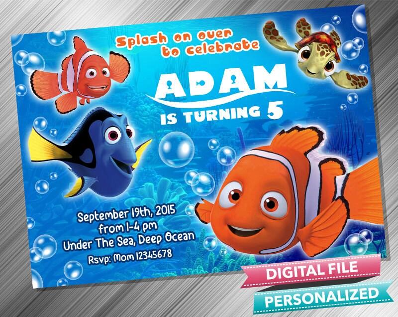 Finding Nemo Invitation