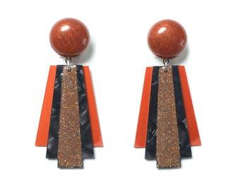 Deco Moon Earrings by LaliBlue