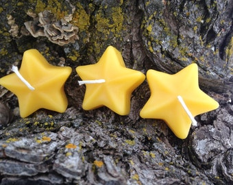Floating Star Candles - 100% pure beeswax