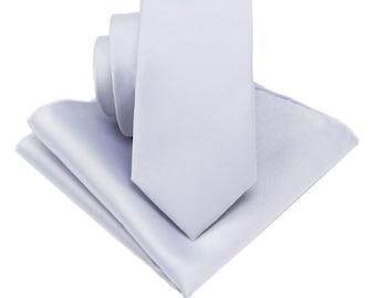 Silver Grey Ties.Wedding Ties.Silver Grey skinny Ties. Mens Ties.