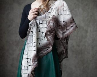 "Knitted shawl ""Jane Air"""