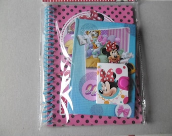 x 3 mixed notebooks Minnie Mouse in different styles and sizes