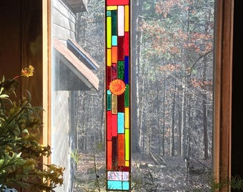 Sparkling Stained Glass Panel gift stained glass suncatcher glass art stained glass window