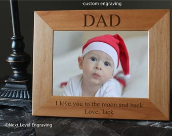Fathers Day Photo Gifts for Dad, Dad Frame, Gift from Daughter, Fathers Day Picture Frame, Gift from Son, New Dad Personalized Gifts