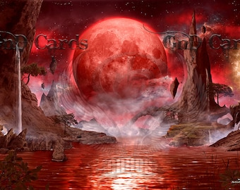 "Custom Playmat ""Blood Moon"" MTG"