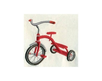 Tricycle Embroidery Design - Instant Digital Download
