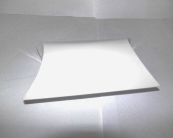 Favor Boxes, Pillow Gift Boxes Glossy White Packaging Boxes 12 Pack size 4x3.5x1.45