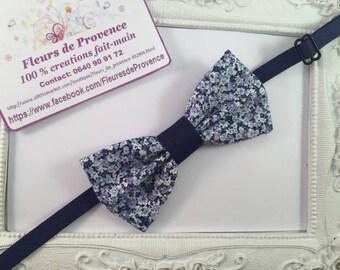 Bow tie Navy Blue Liberty fabric - children
