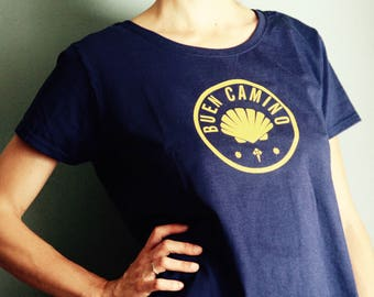 Camino de Santiago Buen Camino Pilgrim Women T Shirt
