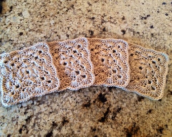 Crocheted Coasters - Tan