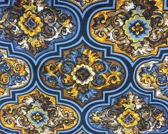 Gorgeous vintage Art Nouveau designed decorator fabric lovely colors