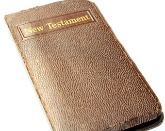 American Bible Society New Testament Bible Small Vintage Book (c1940s)
