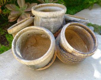 Mid Century Modern Cluster Pottery Planter Pot