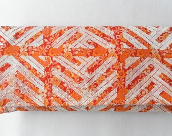 Fanta Clutch with Braided Block Print