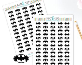 60 Batman Logo Reminder Stickers, Planner Stickers, Reminder Stickers, Happy Planner, Calendar Stickers, Erin Condren