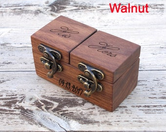 WALNUT rustic ring bearer box wood ring box wood ring box wedding ring box wedding ring holder Proposal ring box wedding ring holder