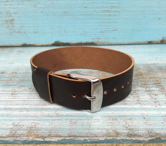 20mm Color #8 Horween Shell Cordovan 1 piece strap