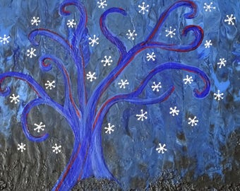 Tree in Blue