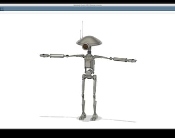 3D Printable files inspired by the Pit Droid