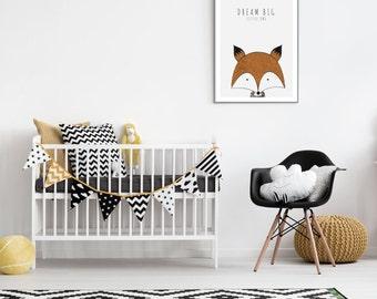 Fox baby print - Dream big little one
