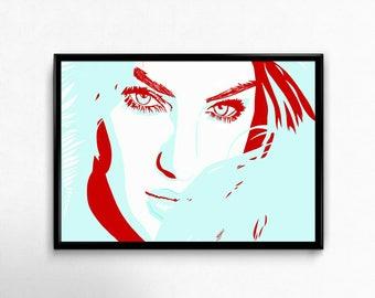 beautiful girl, beautiful woman, gorgeous eyes, pretty girl art prints poster