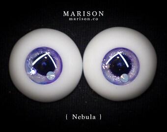 12mm - 20mm Marison Eyes - Handmade BJD Eyes w/ Swarovski Crystal { Nebula }