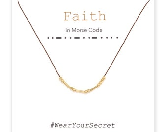 Faith necklace or bracelet, Unique Gift, secret message necklace, Morse Code, Gifts for Her, Gifts for Women, Graduation gift, Mother's day