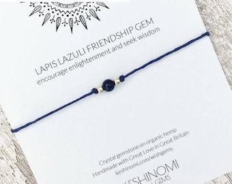 Gift for yogi, wish bracelet, boho bracelet ideas, healing crystals, chakra bracelet, meditation bracelet, yoga bracelet,lapis lazuli