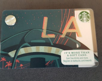 Starbucks Upcycled Refillable Giftcard Notebook - 2015 Los Angeles