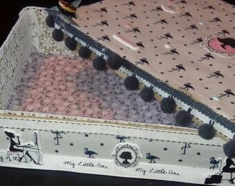 Large jewelry box in fabric
