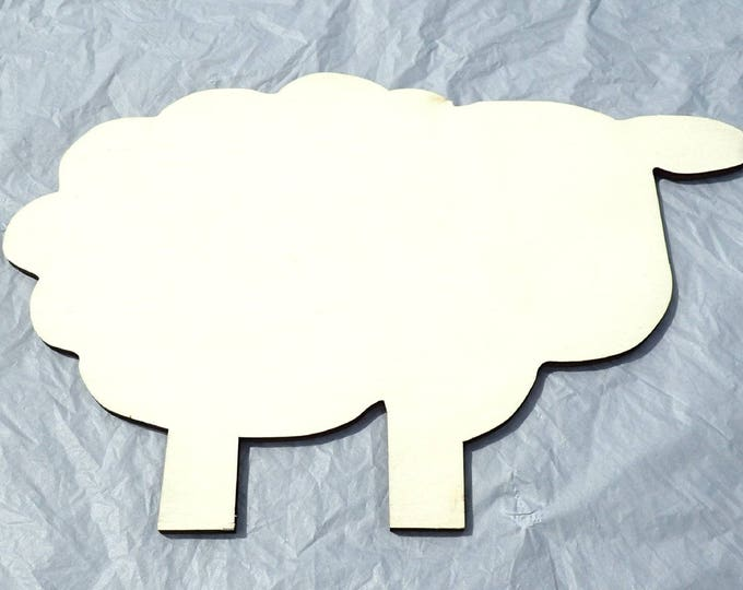 Sheep Mosaic Base - Plaque for Mosaics Decoupage or Decorative Painting - Unfinished Plywood - 30cm X 20cm X 7mm
